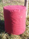 Babzsák puff, pamut huzattal, 44 cm x 48 cm