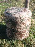 Terepszínű babzsák puff, 44 x 48 cm